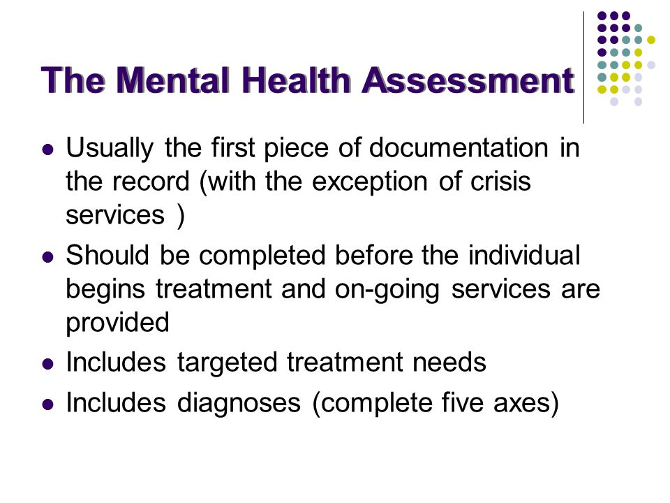 The Mental Health Assessment