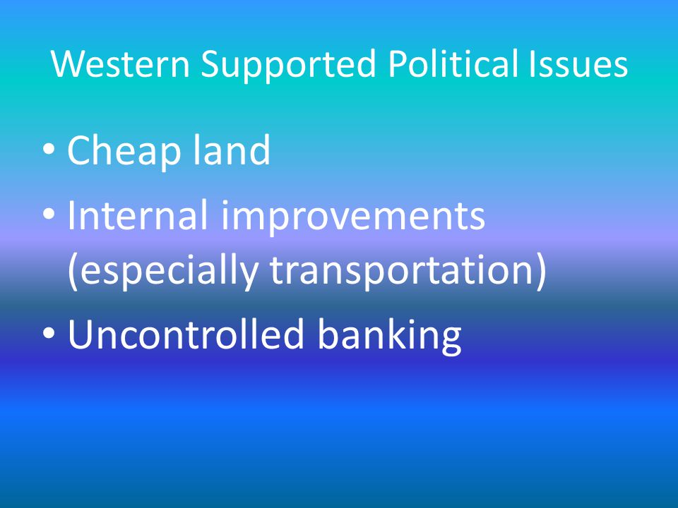 Western Supported Political Issues