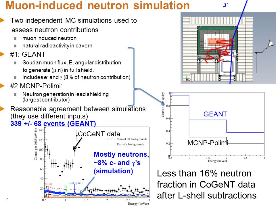 Muon-induced neutron simulation