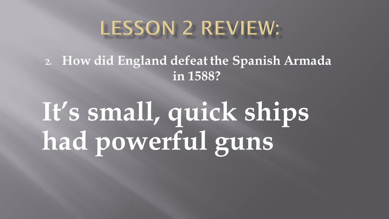How did England defeat the Spanish Armada in 1588