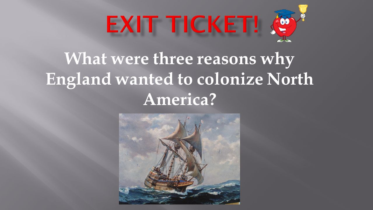 What were three reasons why England wanted to colonize North America