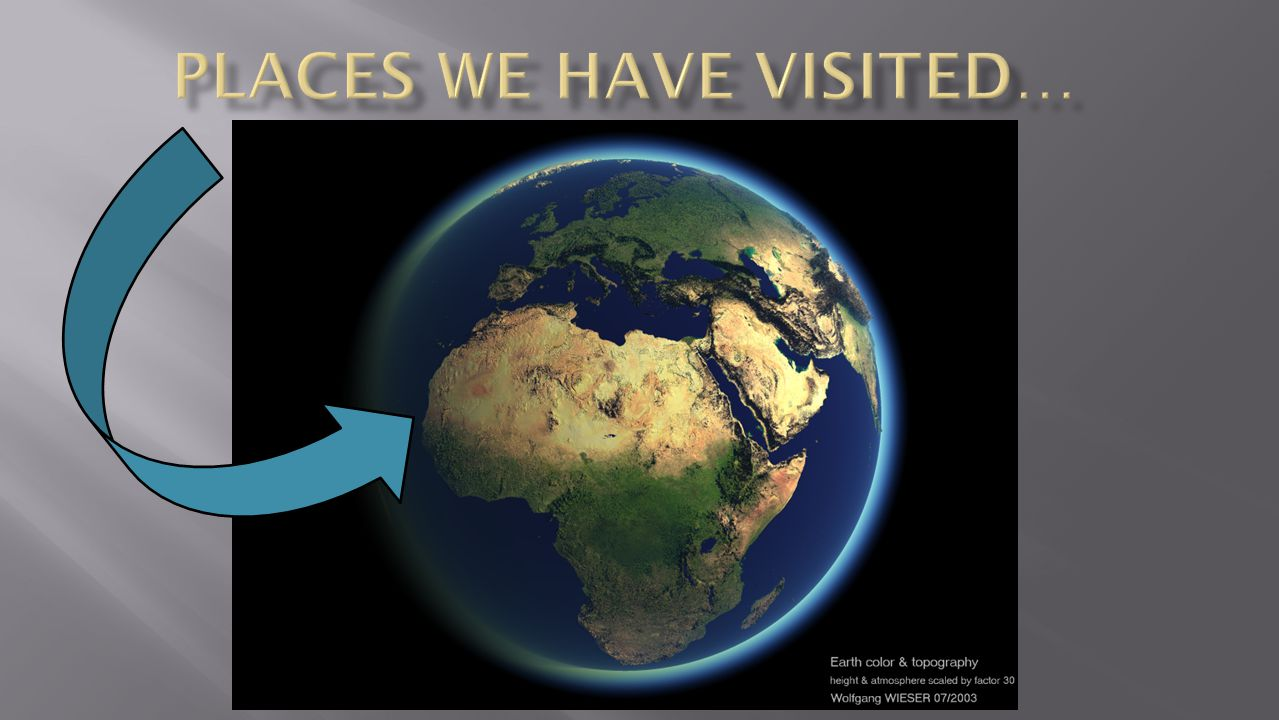 Places we have visited…