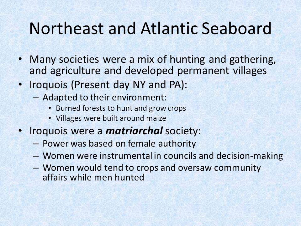 Northeast and Atlantic Seaboard