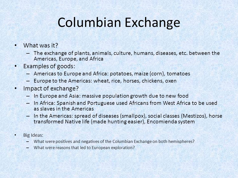 "the columbian exchange essay summary ""the columbian exchange essay example summary however, the problem let us find you another essay on topic the columbian exchange for free."