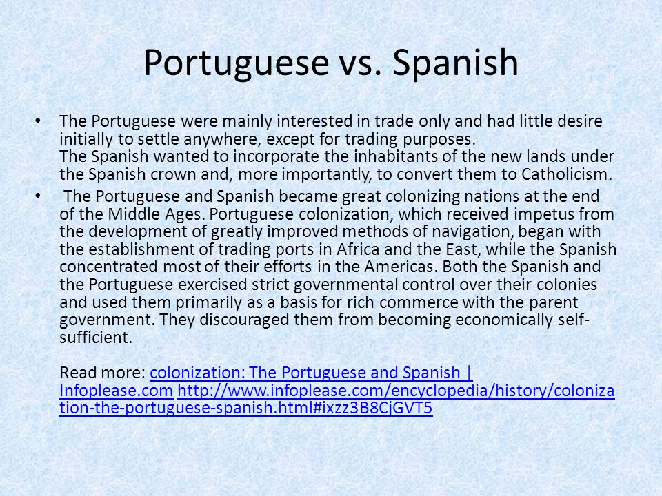 Portuguese vs. Spanish
