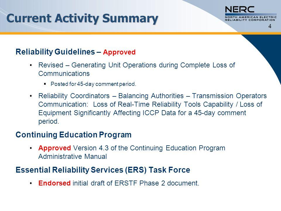 Current Activity Summary