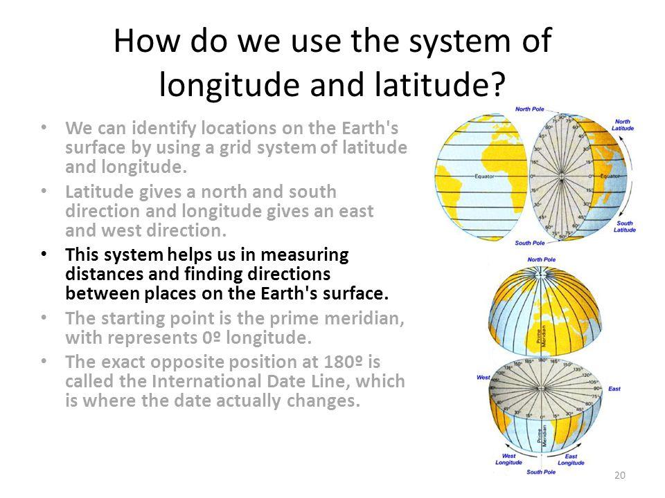 How do we use the system of longitude and latitude