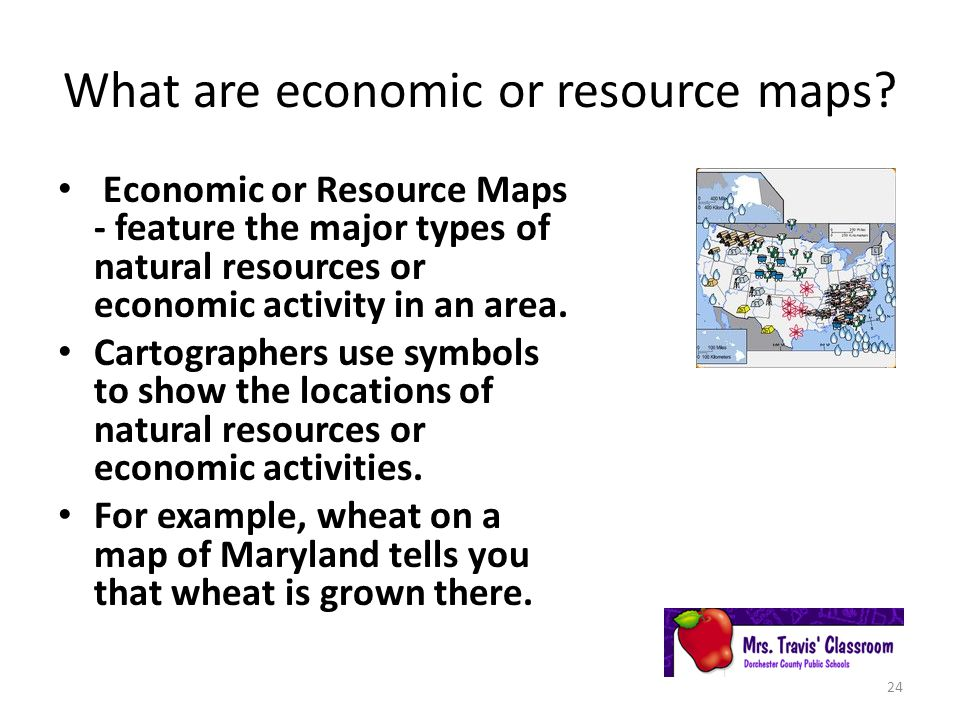 What are economic or resource maps