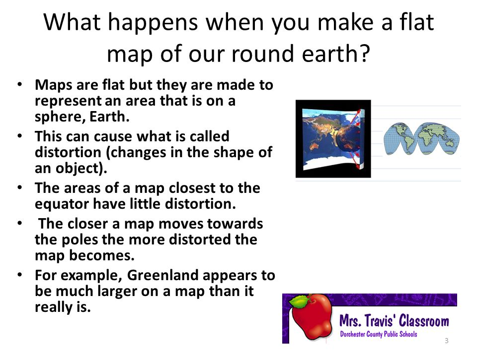 What happens when you make a flat map of our round earth
