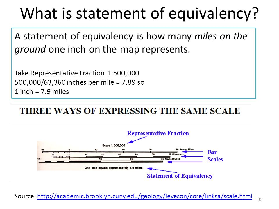 What is statement of equivalency