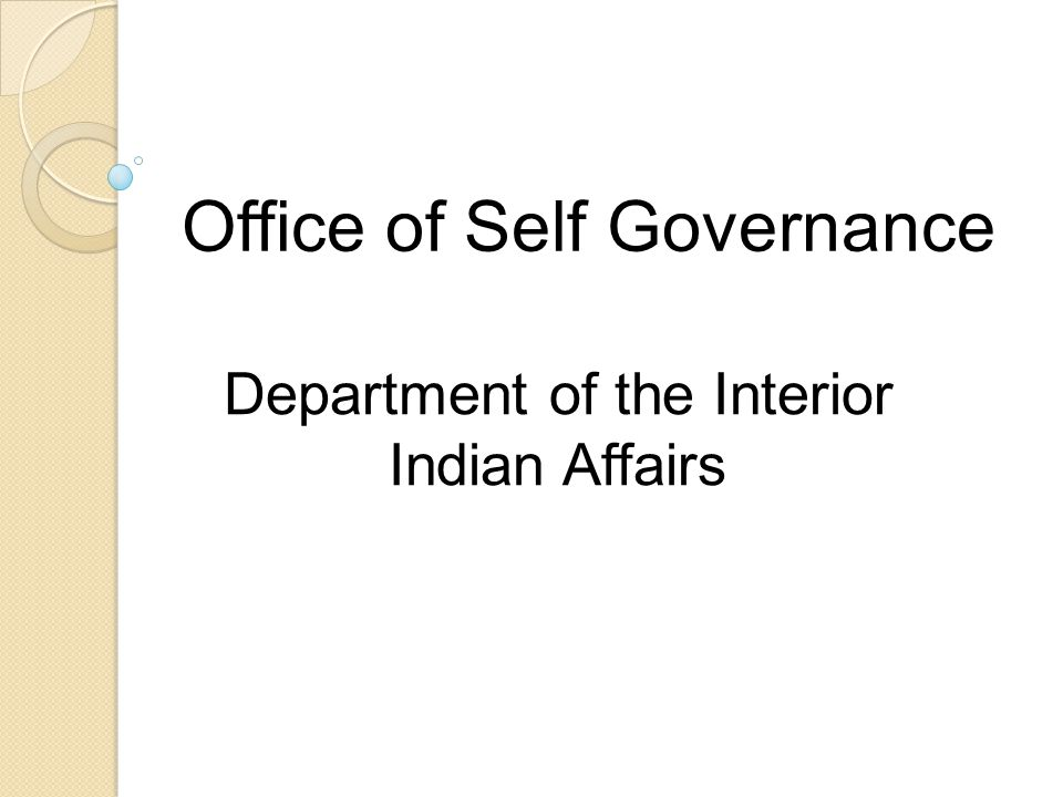 Office of Self Governance