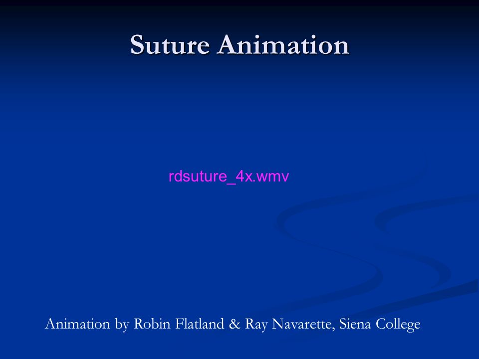 Suture Animation rdsuture_4x.wmv