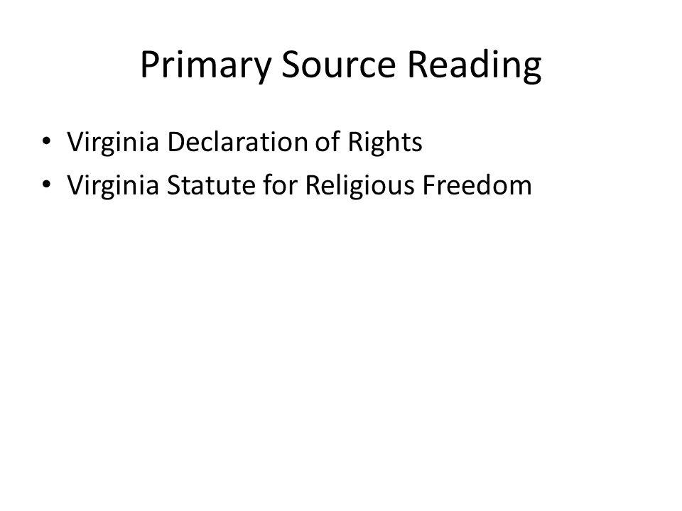 Primary Source Reading