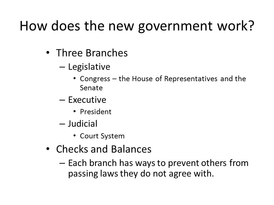 How does the new government work
