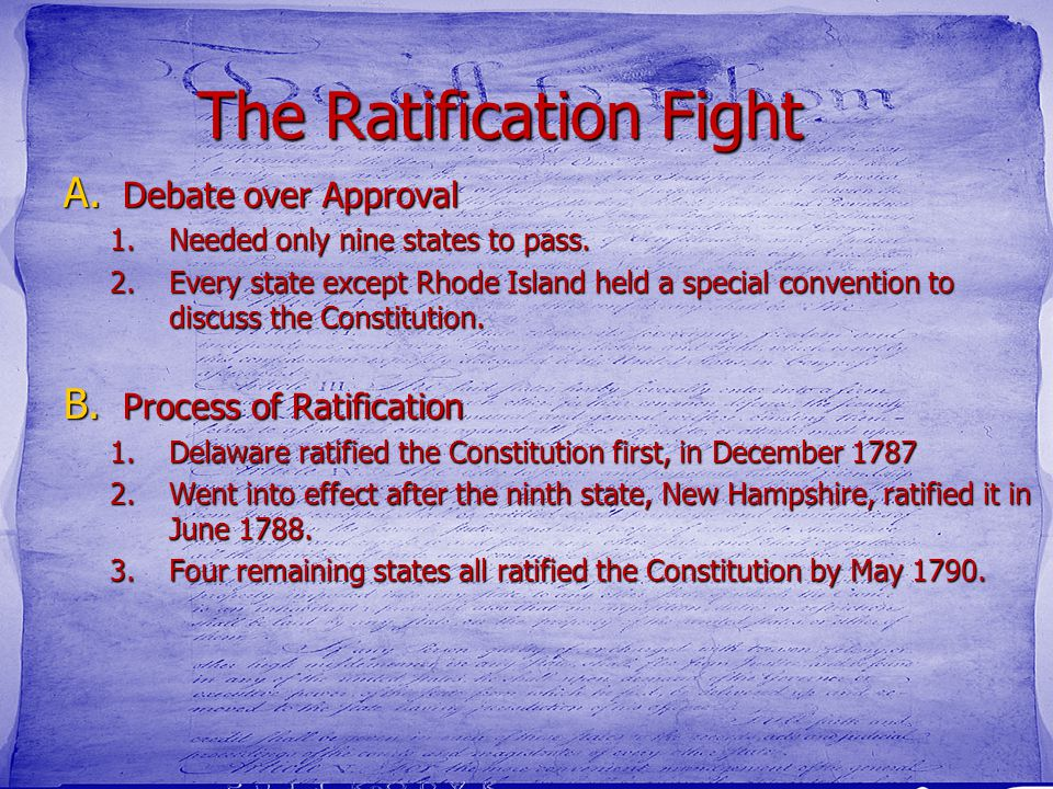 The Ratification Fight