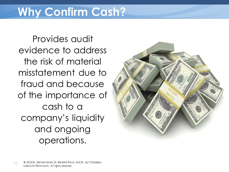Why Confirm Cash