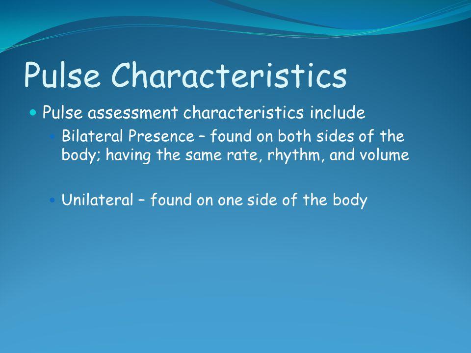 Pulse Characteristics