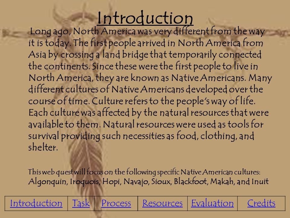 Introduction to Native American Units