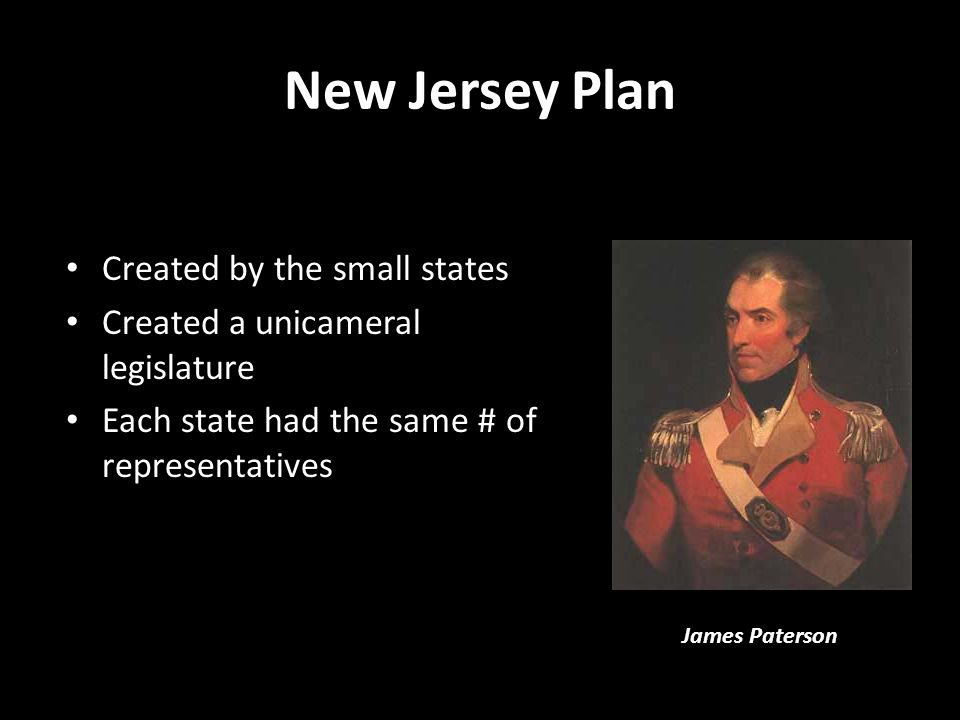 New Jersey Plan Created by the small states