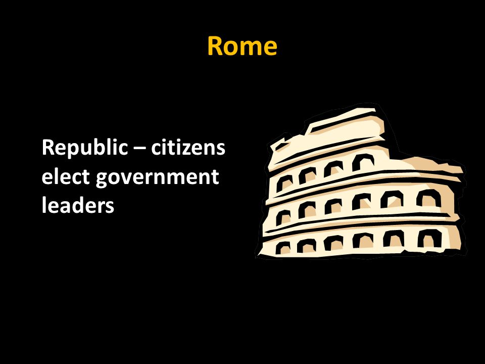 Rome Republic – citizens elect government leaders