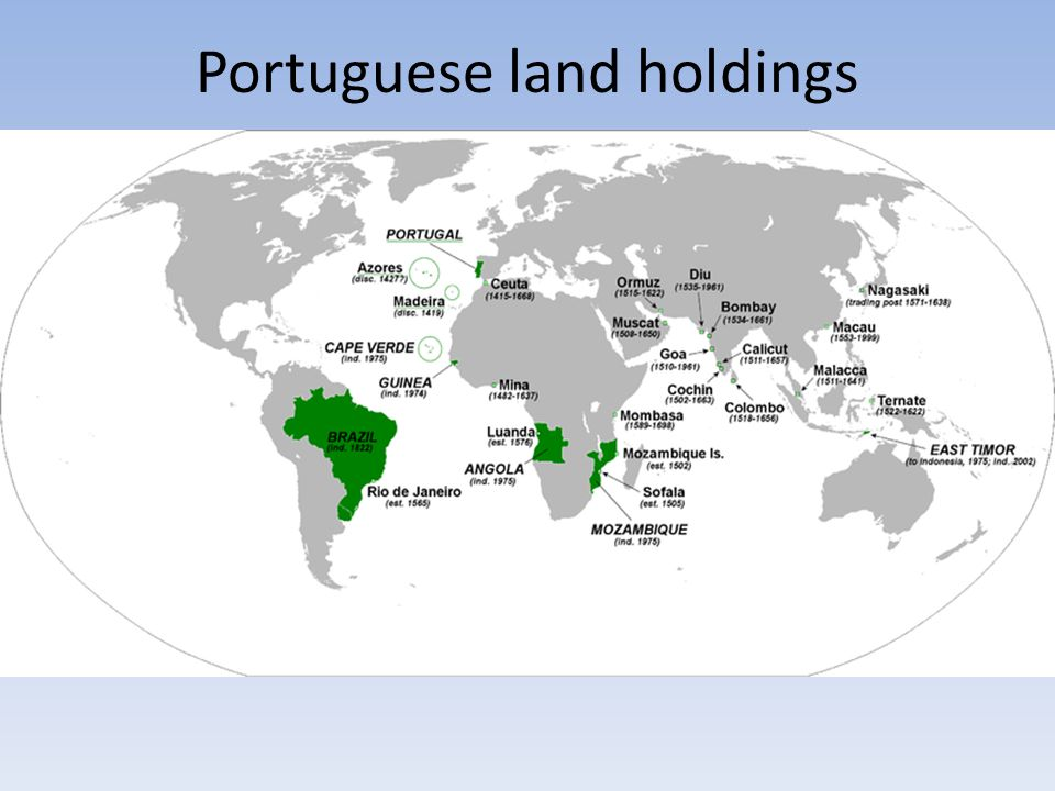 Portuguese land holdings