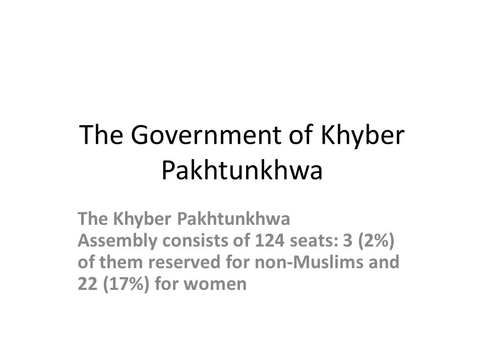 The Government of Khyber Pakhtunkhwa