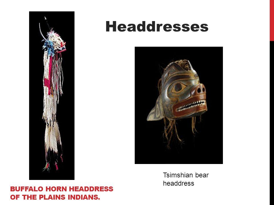 Buffalo horn headdress of the Plains Indians.