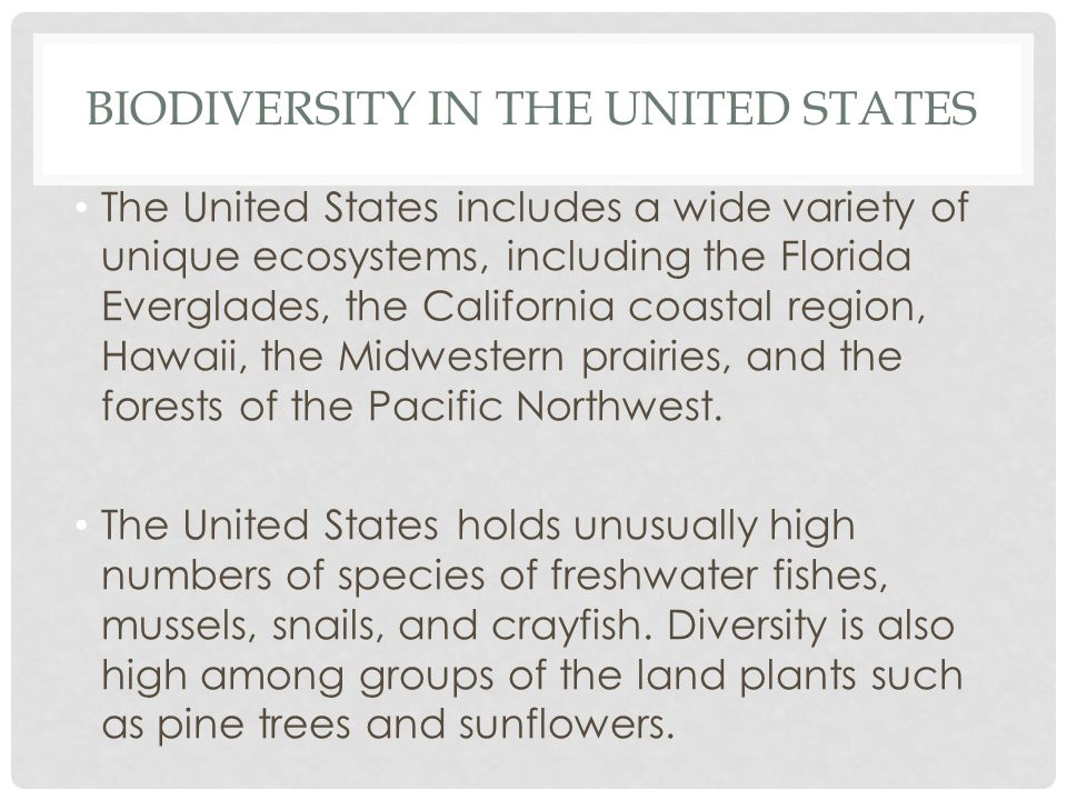Biodiversity in the United States