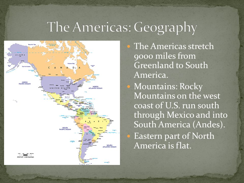 The Americas: Geography