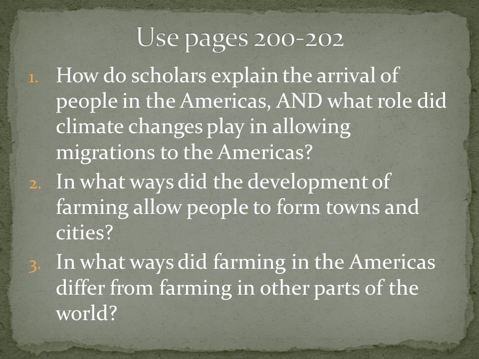Use pages 200-202