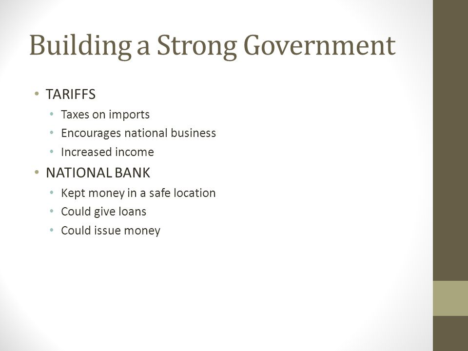 Building a Strong Government