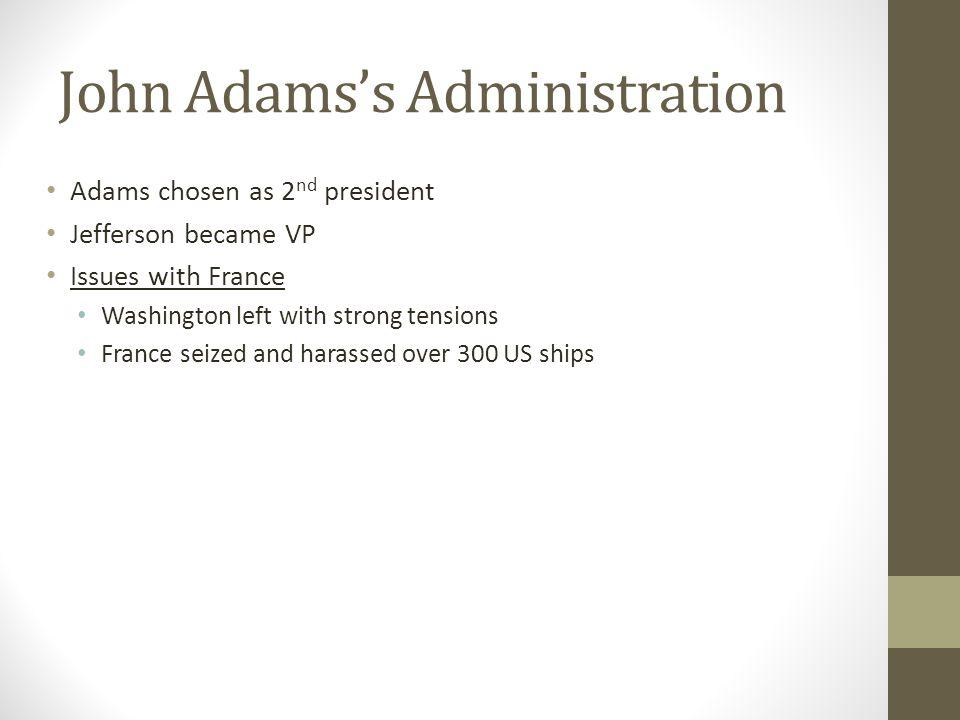 John Adams's Administration