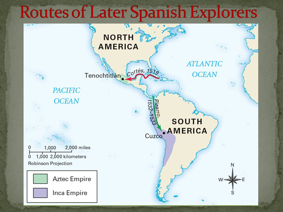 Routes of Later Spanish Explorers