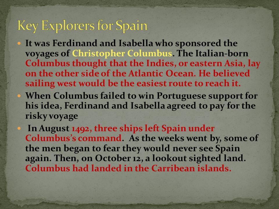 Key Explorers for Spain