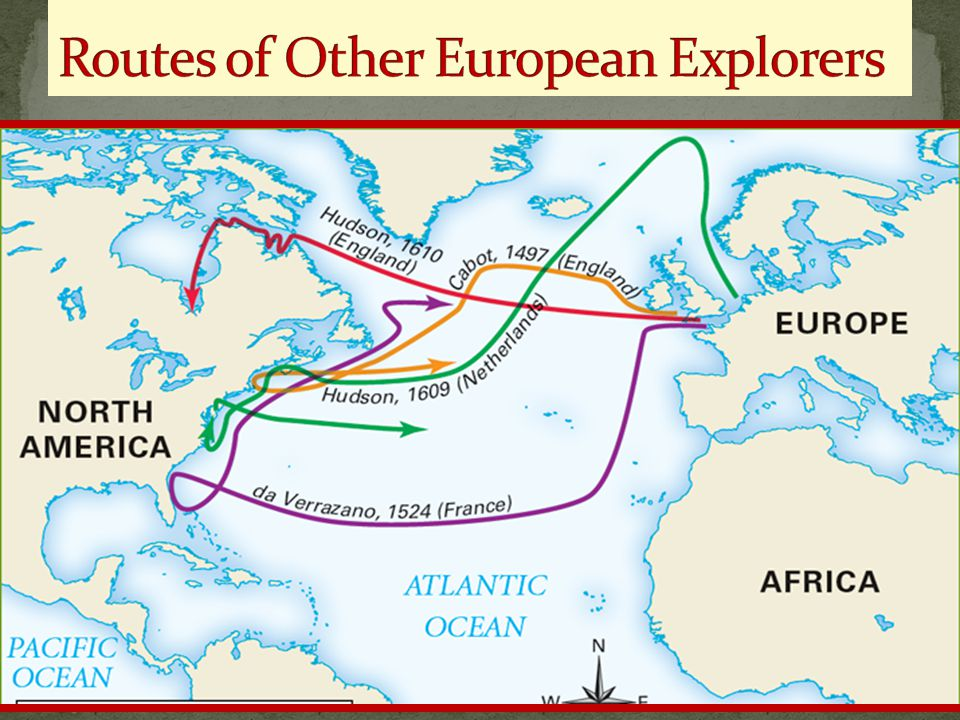 Routes of Other European Explorers