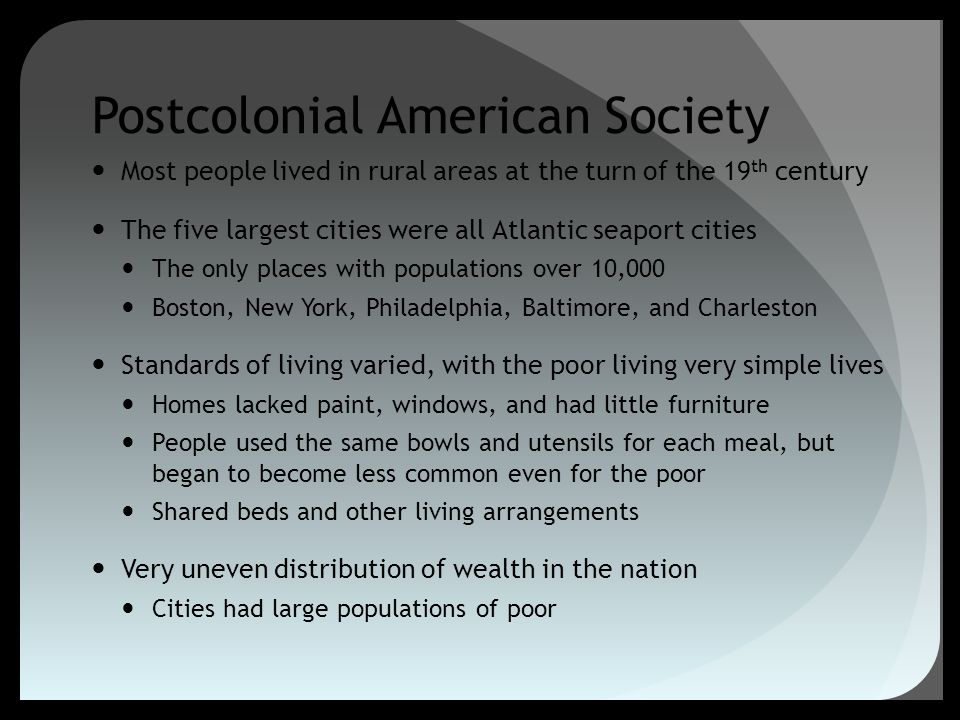 Postcolonial American Society