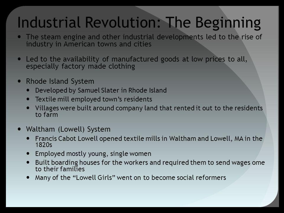 Industrial Revolution: The Beginning