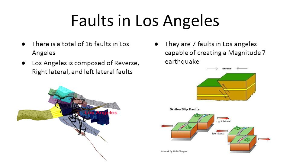Faults in Los Angeles There is a total of 16 faults in Los Angeles
