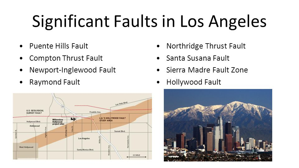 Significant Faults in Los Angeles