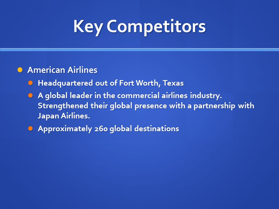 Key Competitors American Airlines