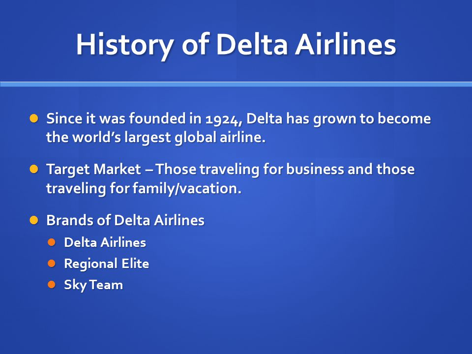 History of Delta Airlines