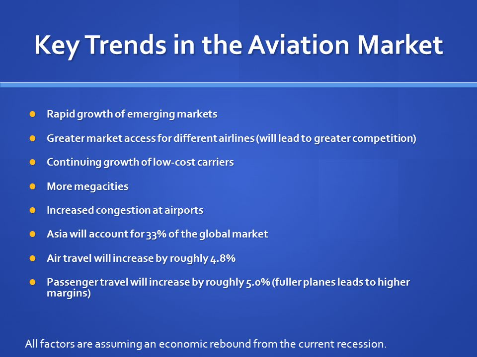 Key Trends in the Aviation Market