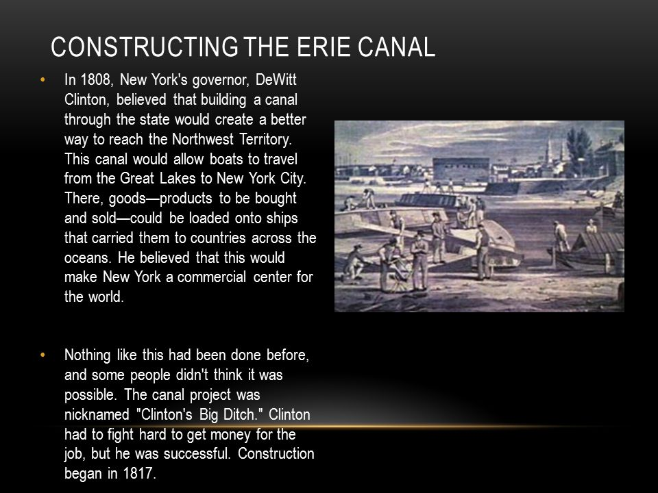 Constructing the Erie Canal