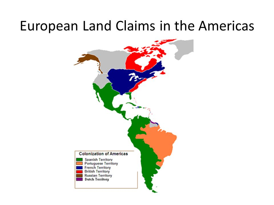 European Land Claims in the Americas