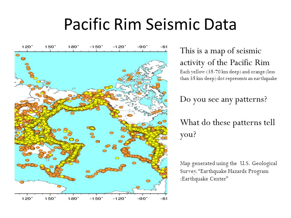 Pacific Rim Seismic Data