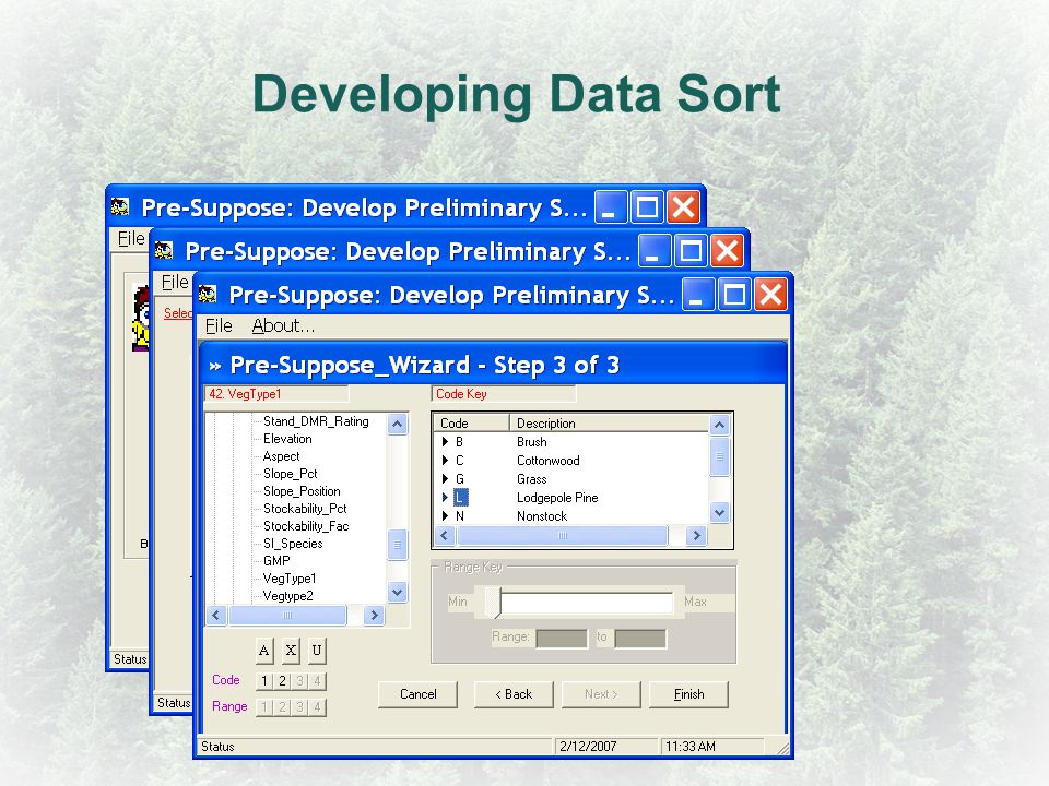 Developing Data Sort