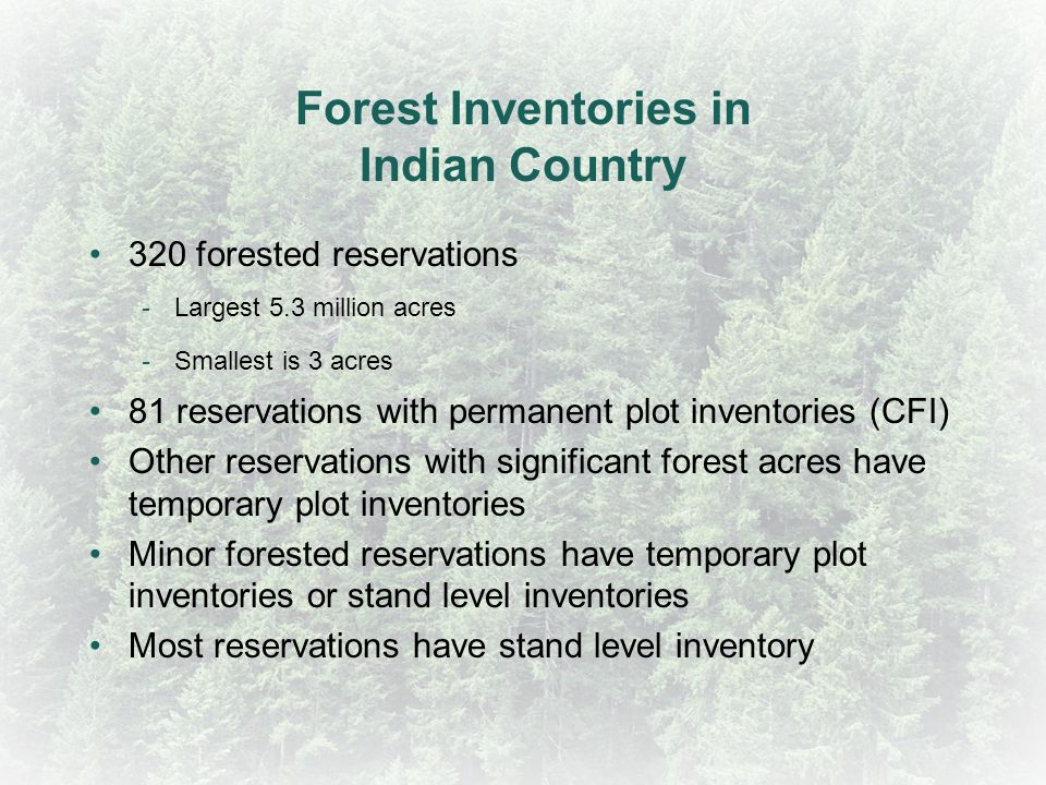 Forest Inventories in Indian Country