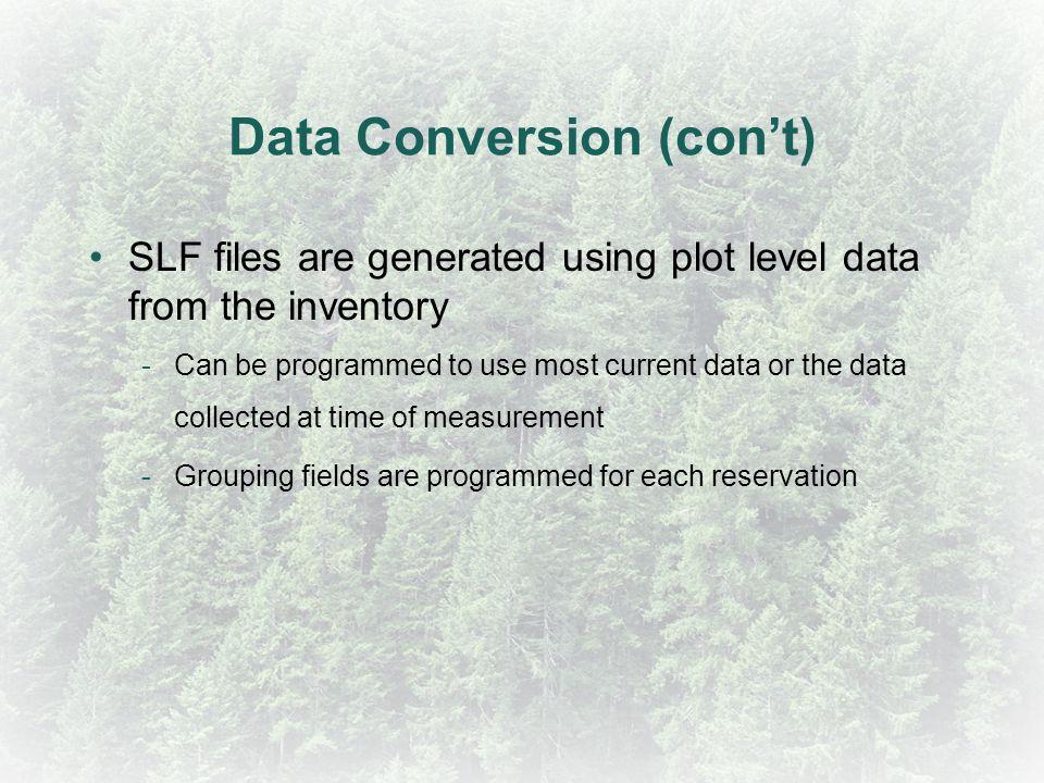 Data Conversion (con't)