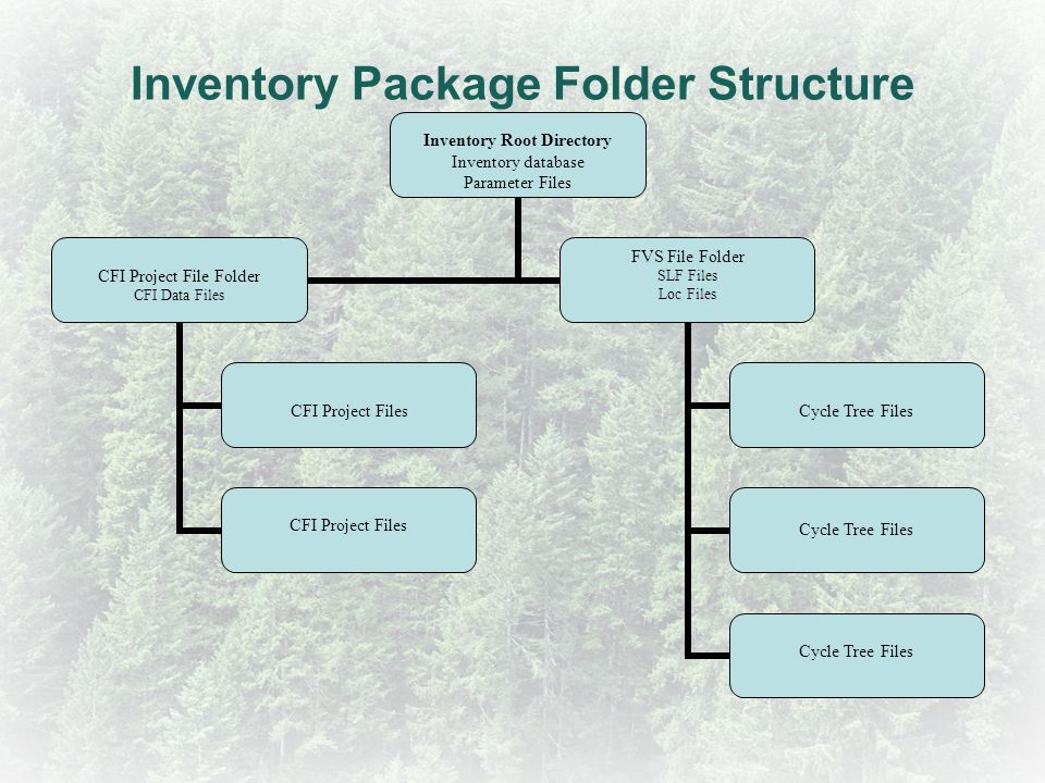 Inventory Package Folder Structure