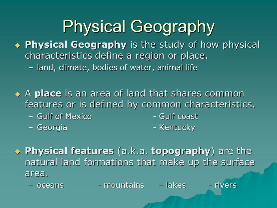 Geography and sociolinguistic characteristic of the